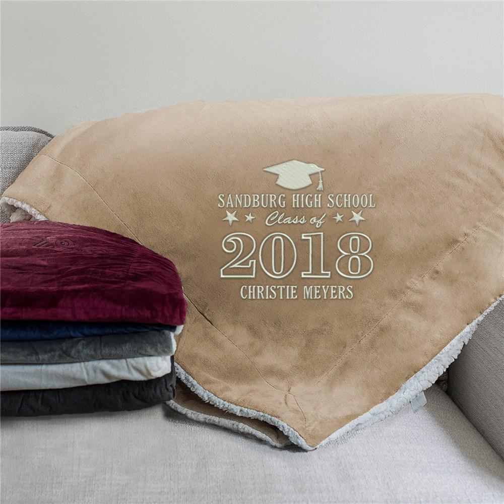 Personalized Class Of...Embroidered Sherpa Blanket