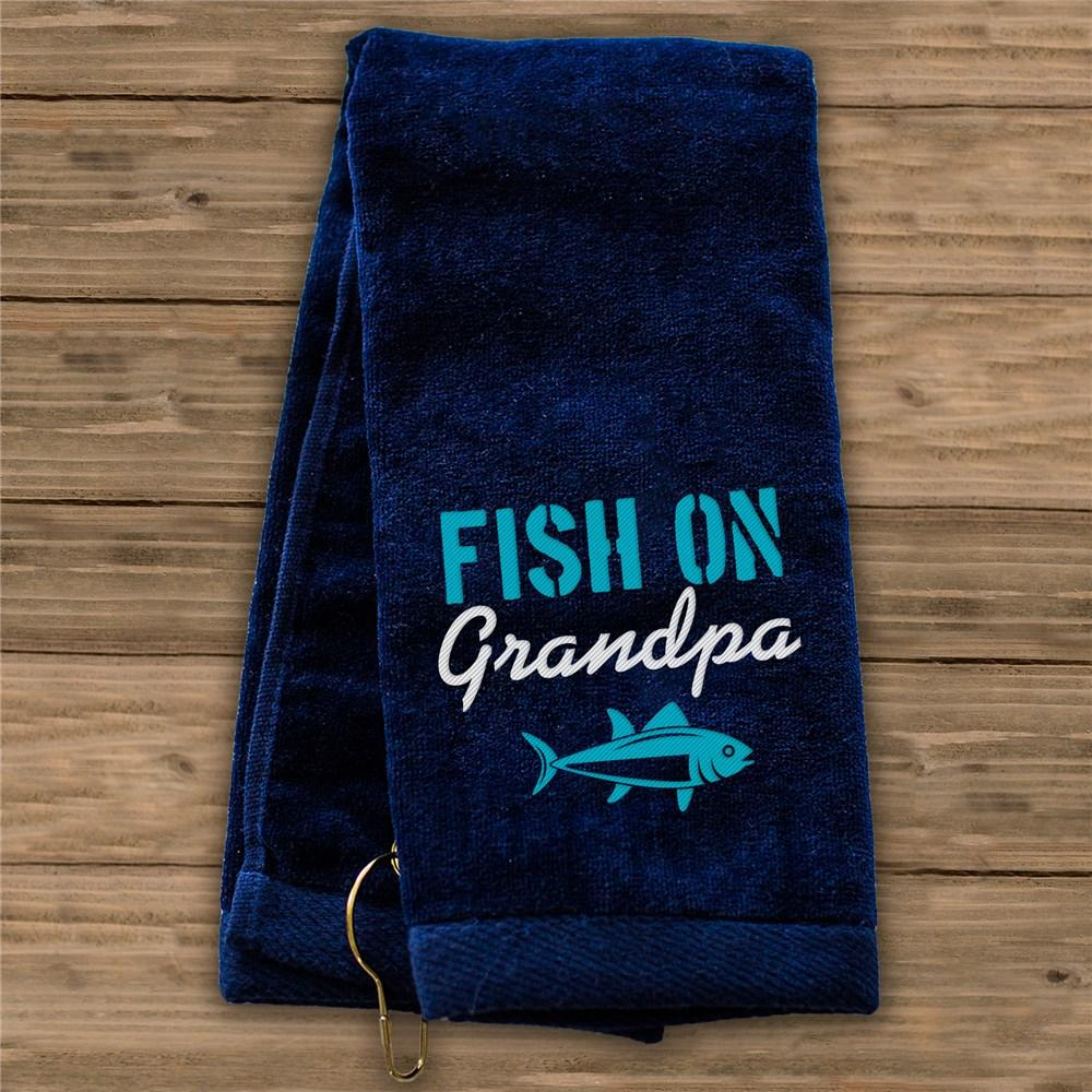 Personalized Fish On Grandpa Towel