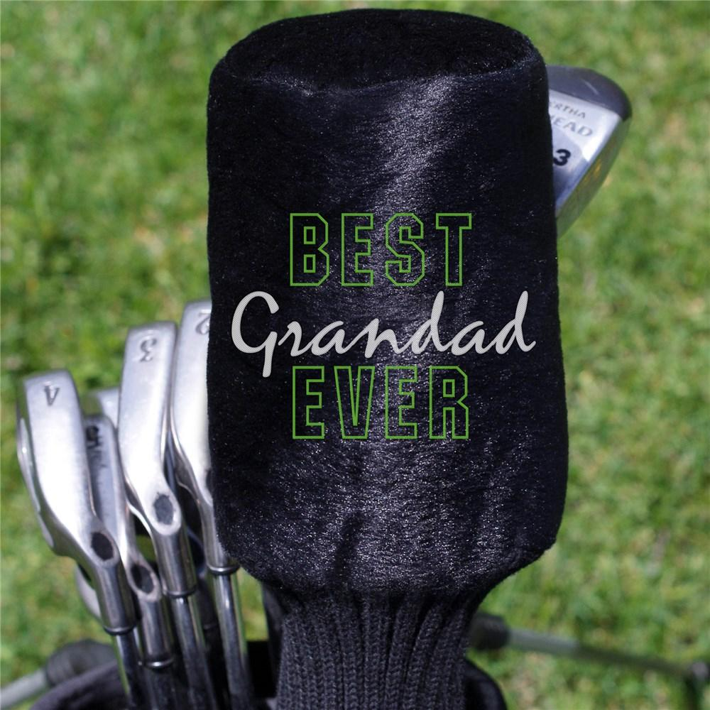 Personalized Embroidered Best Grandpa Ever Plush Golf Club Cover