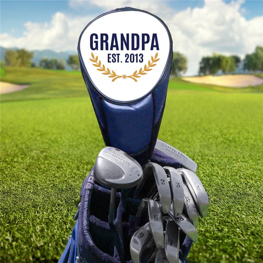Personalized Embroidered Grandpa Golf Club Cover