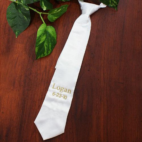 Personalized Embroidered First Communion Tie
