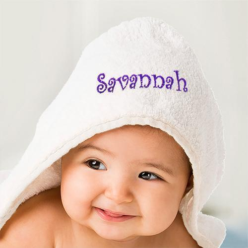 Personalized Embroidered Name Hooded Baby Towel