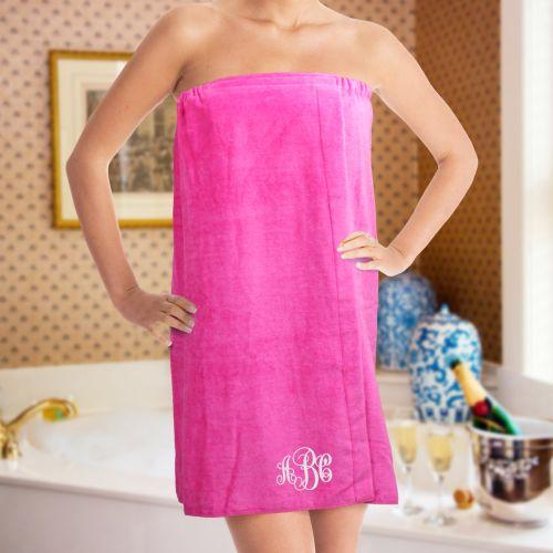 Personalized Monogram Spa Wrap Embroidered