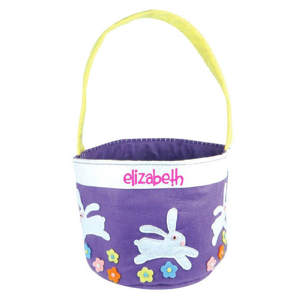 Personalized Purple Easter Bunny Basket Bucket - Gifts Happen Here - 1