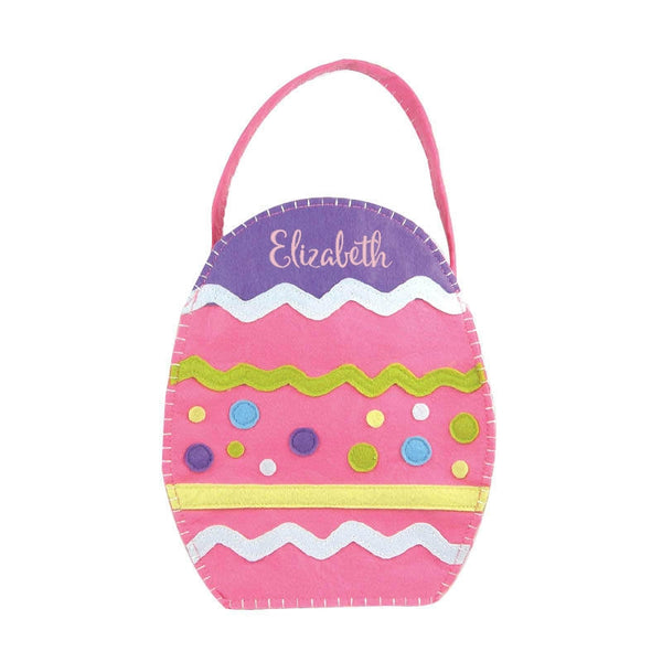 Personalized Pink Girls Easter Egg Basket Bucket - Gifts Happen Here - 1
