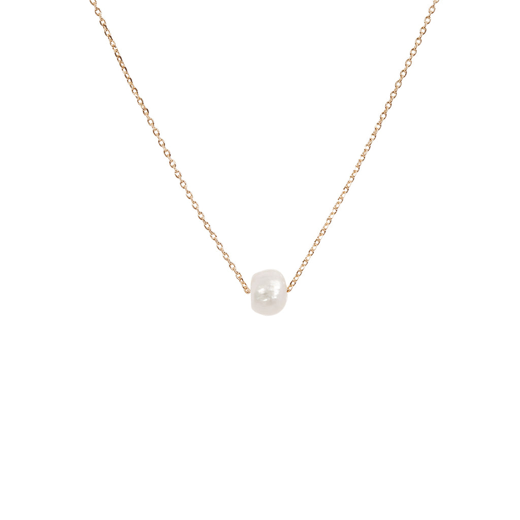 Single Pearl Necklace - Gold