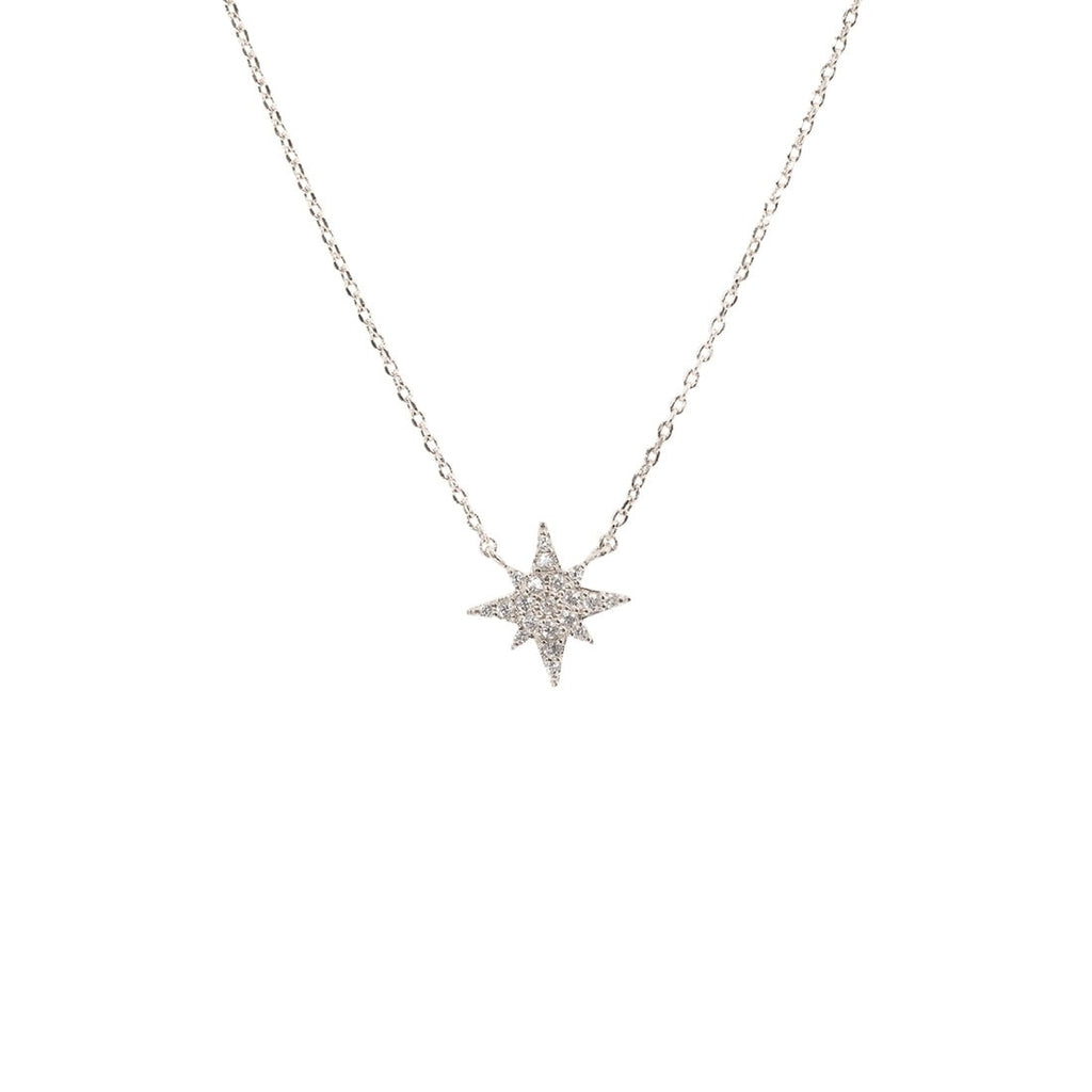 CZ Starburst Necklace - Gold
