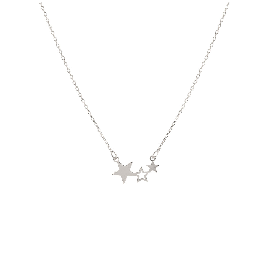 Triple Star Necklace - Silver