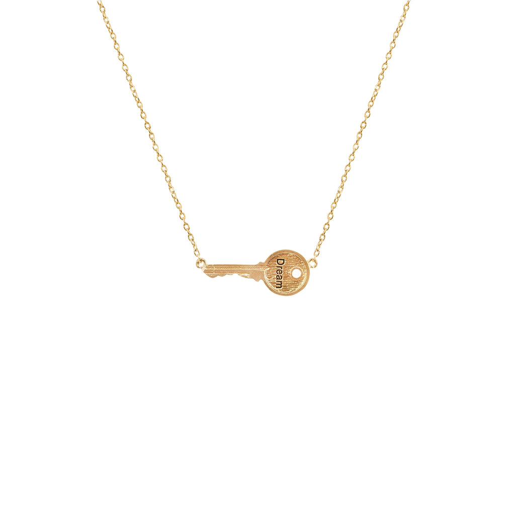 Dream Key Necklace - Gold
