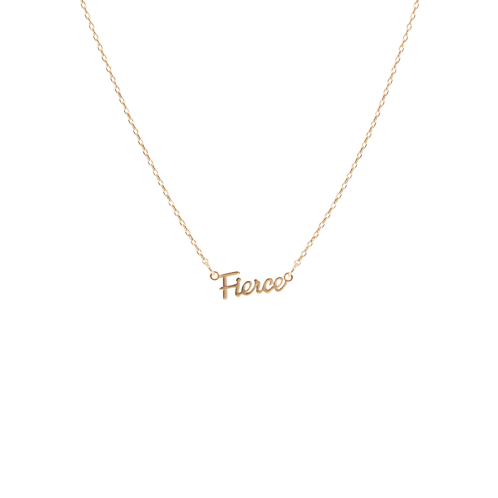 Fierce Script Necklace - Gold