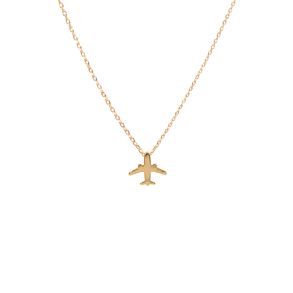 Airplane Necklace - Gold