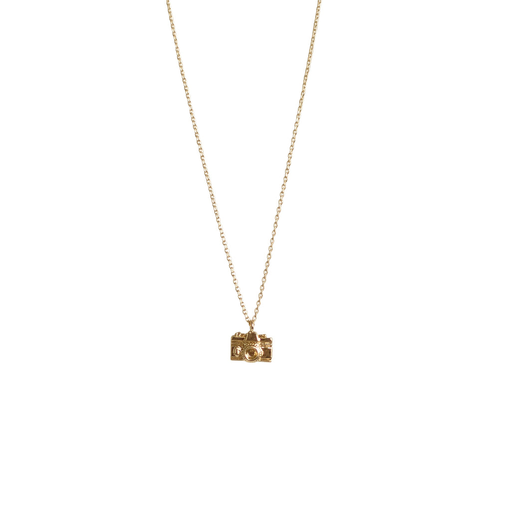Camera Necklace - Gold
