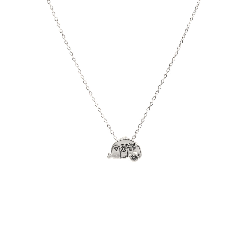 Camper Van Necklace - Silver
