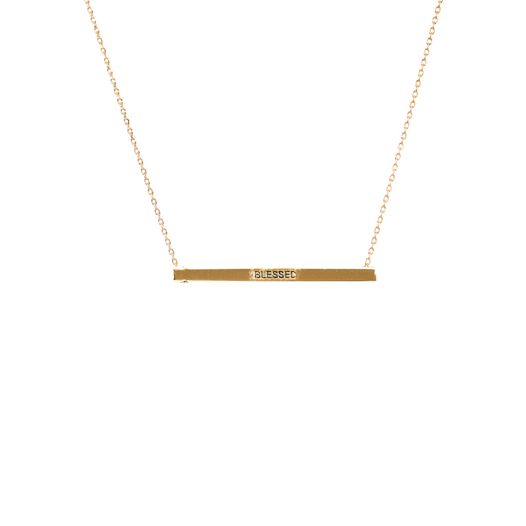 Blessed Bar Necklace-Gold