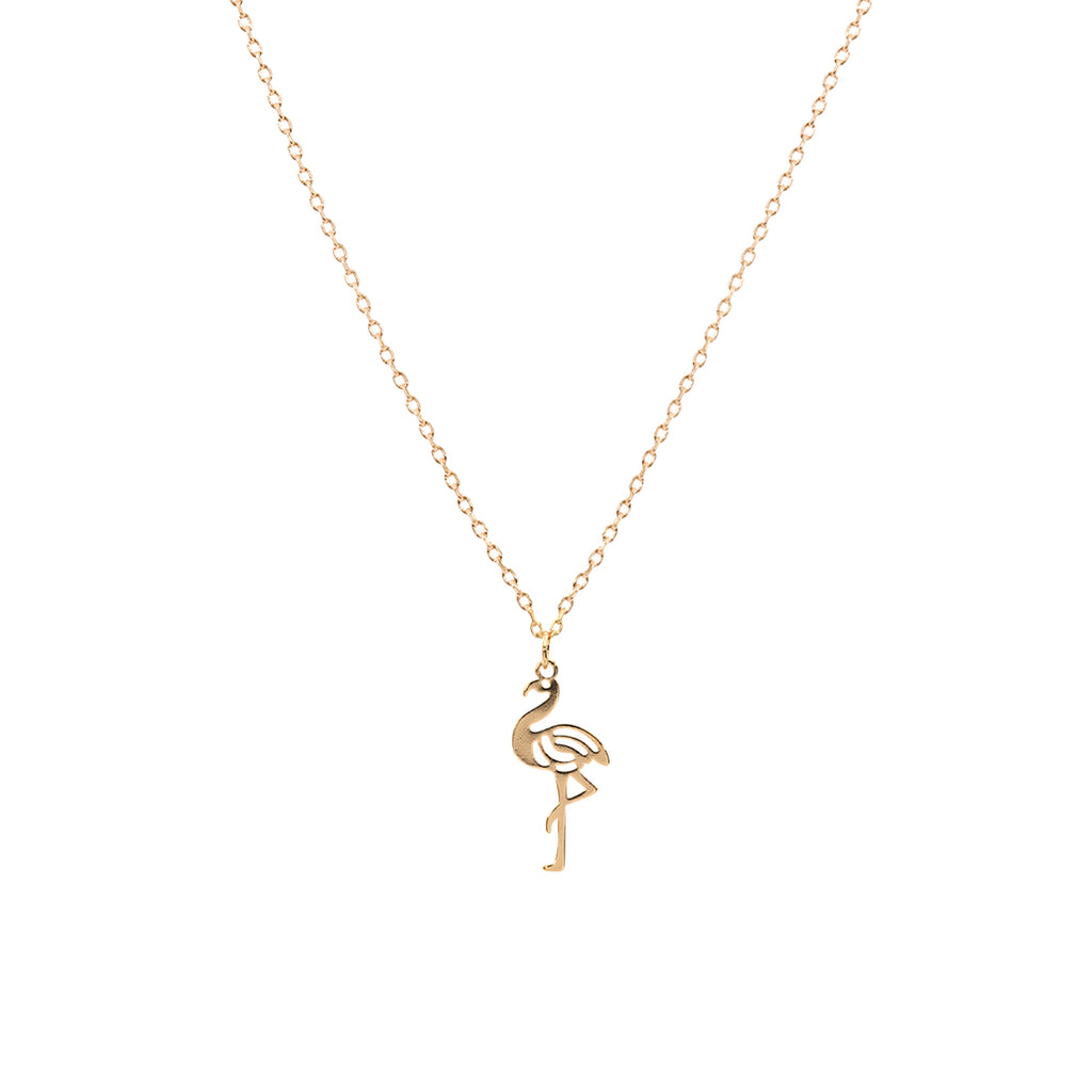 Flamingo Necklace - Gold