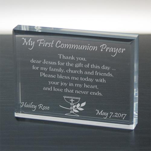 Personalized My First Communion Prayer Keepsake