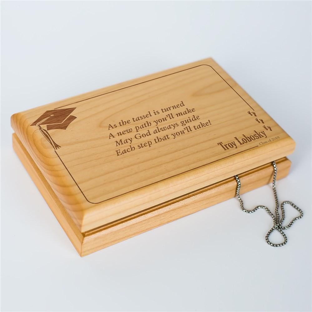 Personalized As The Tassel Is Turned Graduation Valet Box