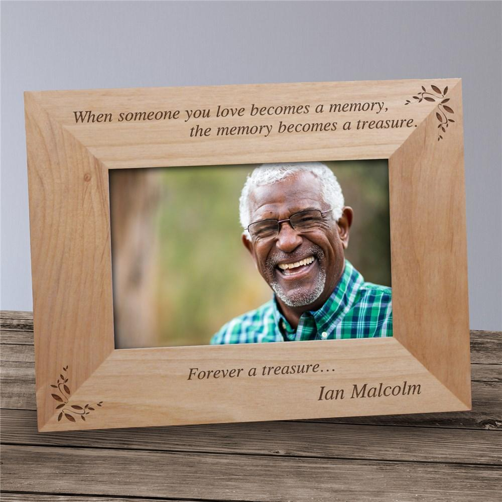 Personalized Memory Becomes A Treasure Memorial Wood Picture Frame