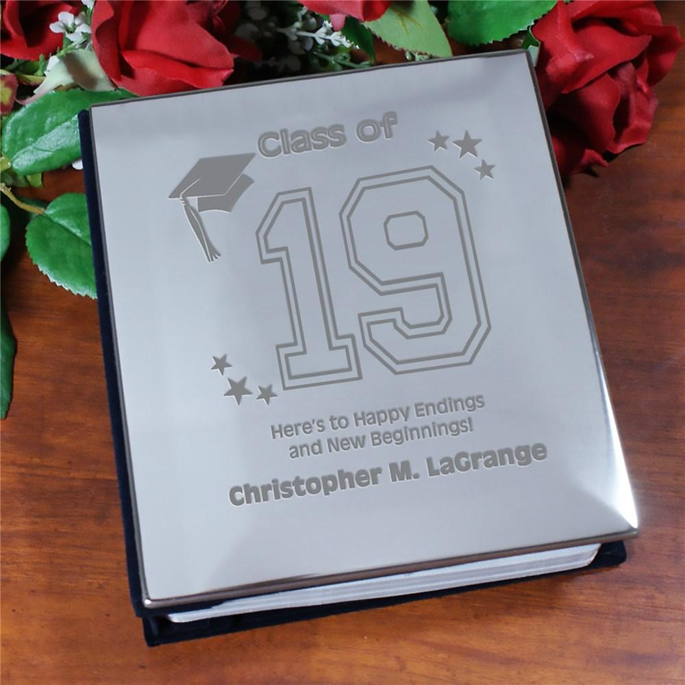 Personalized New Beginnings Graduation Silver Album