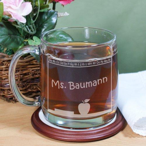 Personalized Teacher's Name Engraved Glass Mug