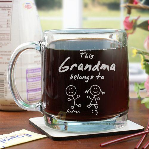 Personalized Engraved Belongs To Glass Mug