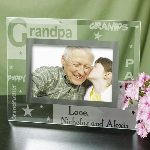 Personalized Engraved Grandpa Glass Frame