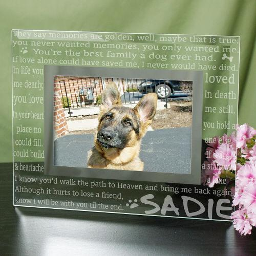 Personalized Engraved Til' The End Pet Memorial Glass Frame