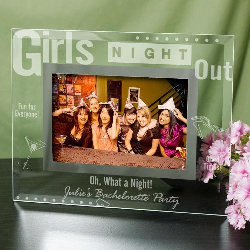 Personalized Engraved Girls Night Out Glass Picture Frame