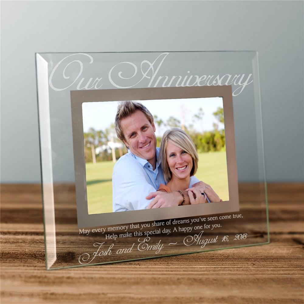 Personalized Our Anniversary Glass Picture Frame