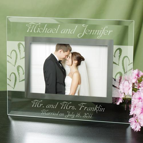 Personalized Couples Wedding Glass Picture Frame