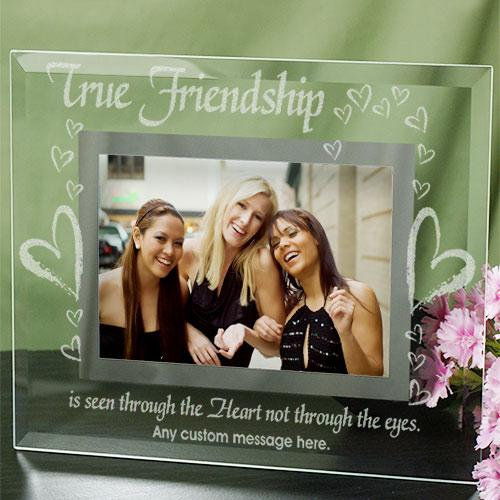 Personalized True Friends Glass Picture Frame