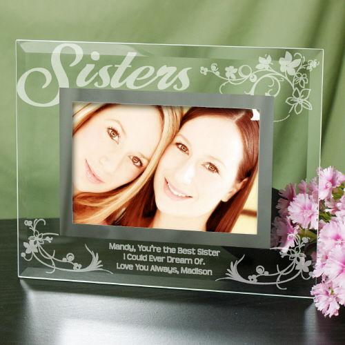 Personalized Engraved Sister Glass Picture Frame