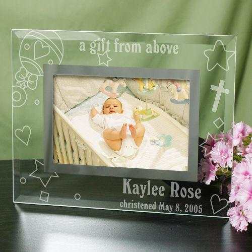 Personalized New Baby Glass Picture Frame