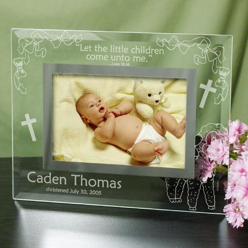 Personalized Engraved New Baby Glass Picture Frame