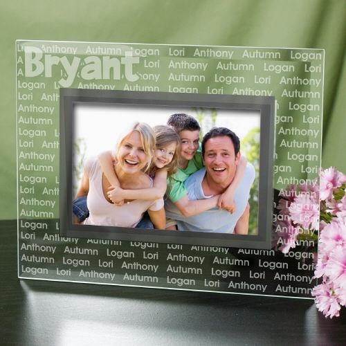 Personalized Custom Family Name Glass Frame
