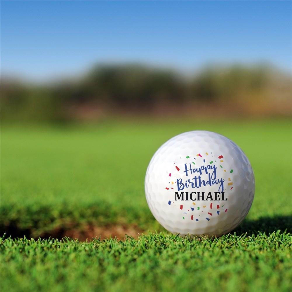 Personalized Happy Birthday Golf Ball Set