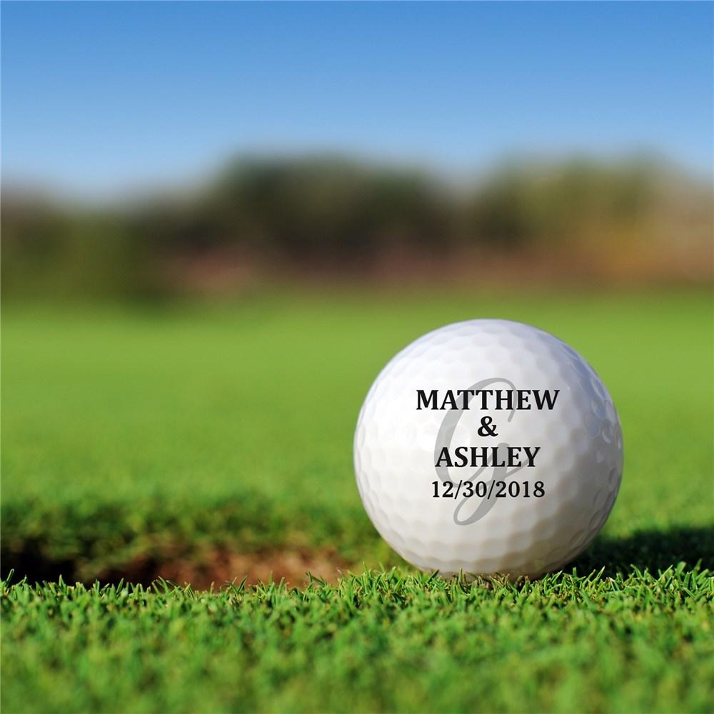 Personalized Couple Golf Ball Set