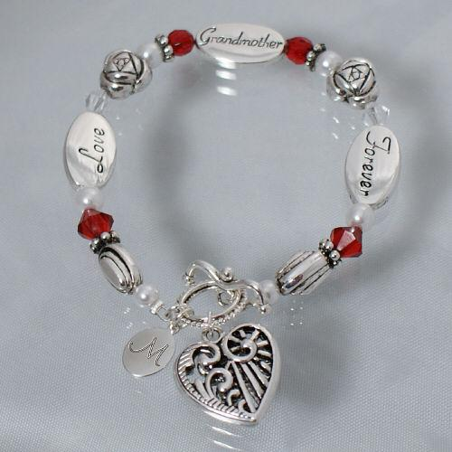Personalized Engraved Grandma Bracelet