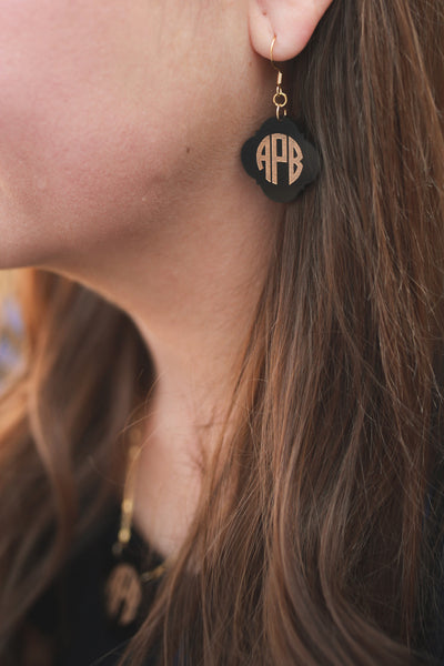 Personalized Monogram Earrings Engraved - Gifts Happen Here - 1