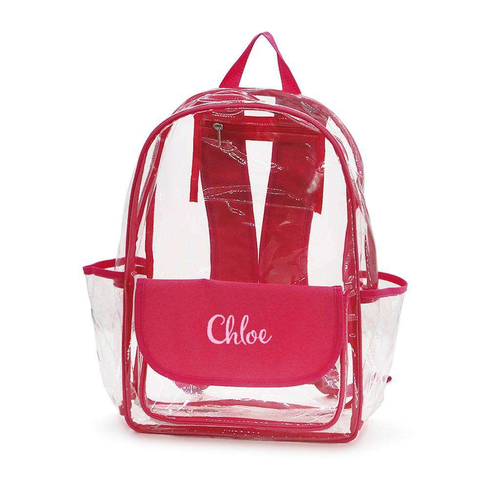 "Personalized Clear Backpack - 16"" Full Size"