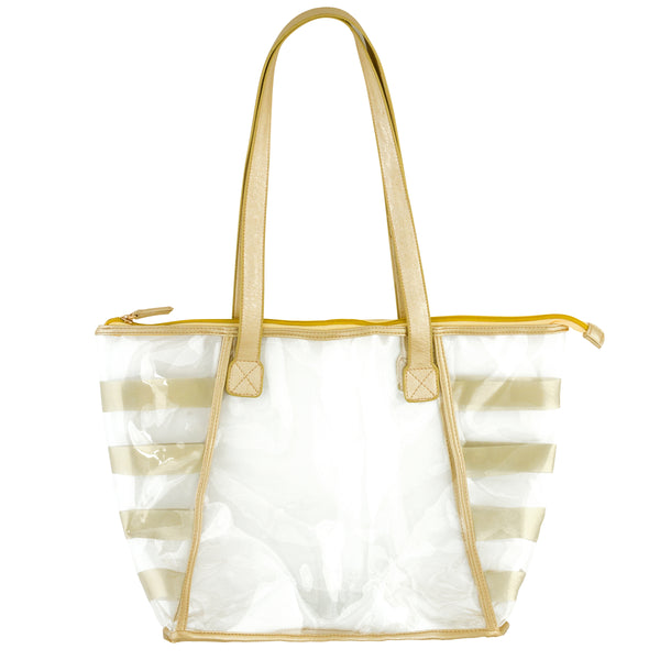 Striped Clear Tote Bags - Stadium Friendly