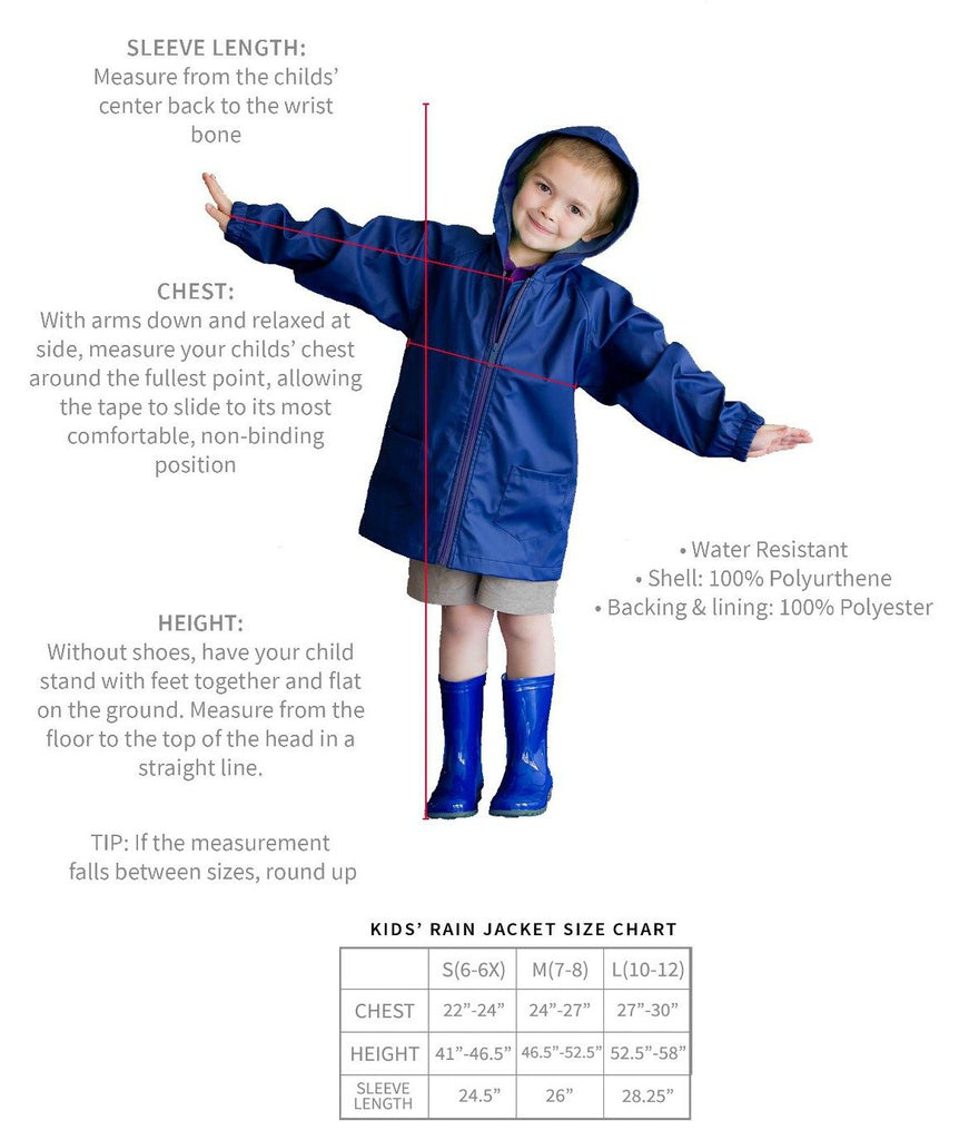 Monogrammed Kids Rain Jacket - Kids Rain Coat for Girls & Boys - Mint