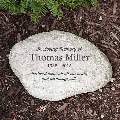 Personalized In Loving Memory Garden Stone