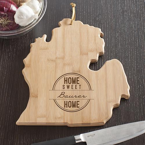Personalized Michigan State Cutting Board