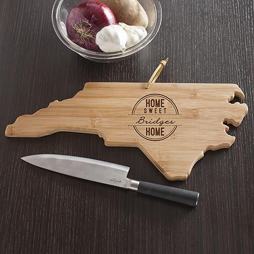 Personalized Home Sweet Home North Carolina Cutting Board