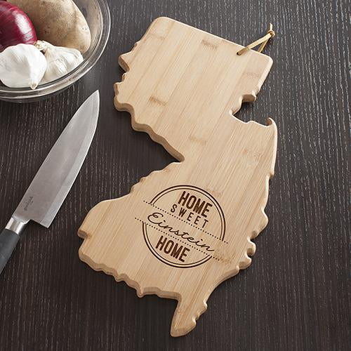 Personalized New Jersey State Cutting Board