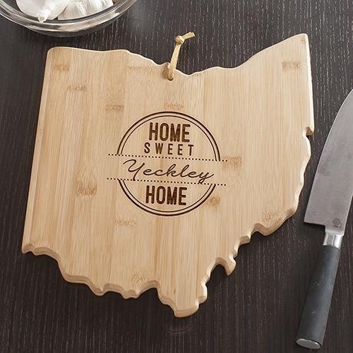 Personalized Ohio State Cutting Board