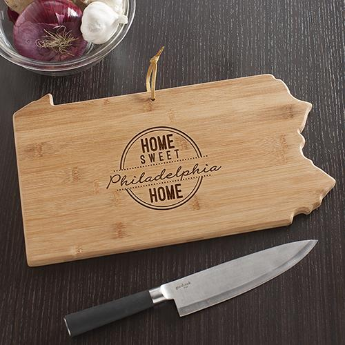 Personalized Pennsylvania State Cutting Board