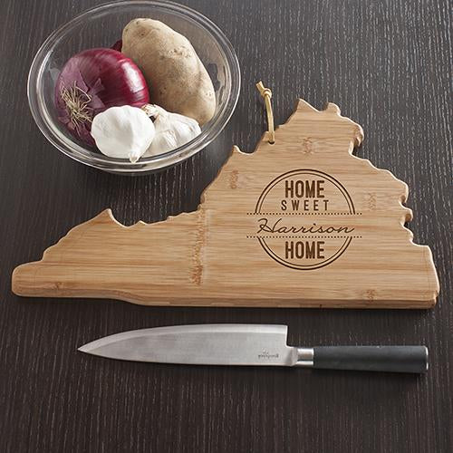 Personalized Home Sweet Home Virginia State Cutting Board
