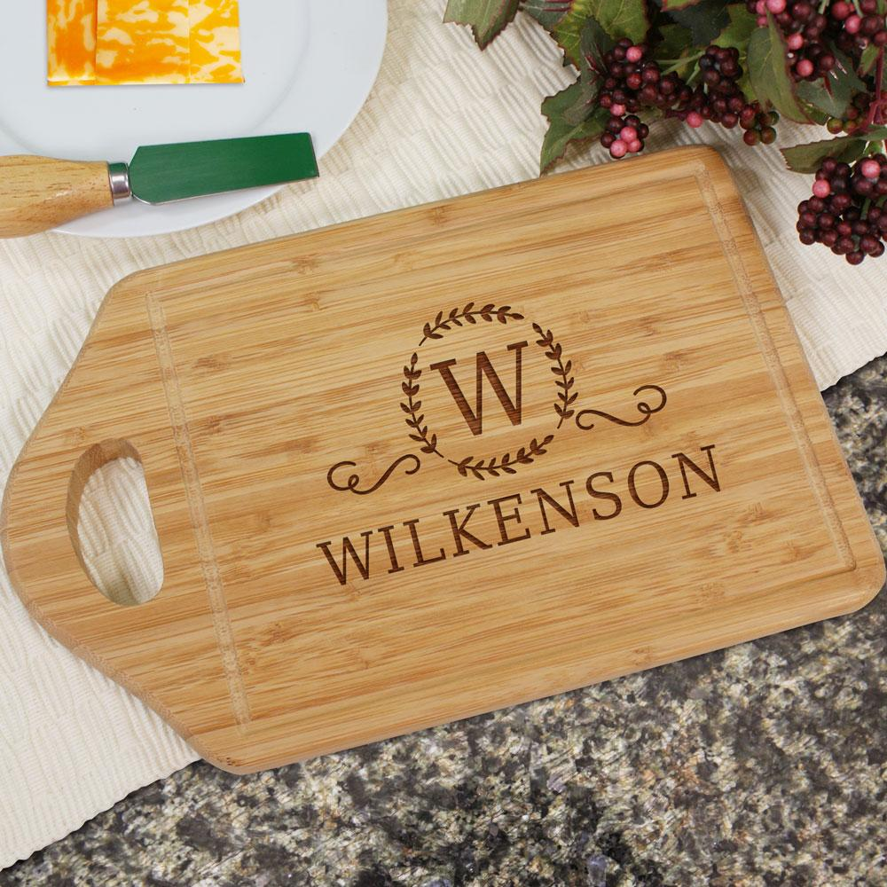 Personalized Engraved Family Cutting Board
